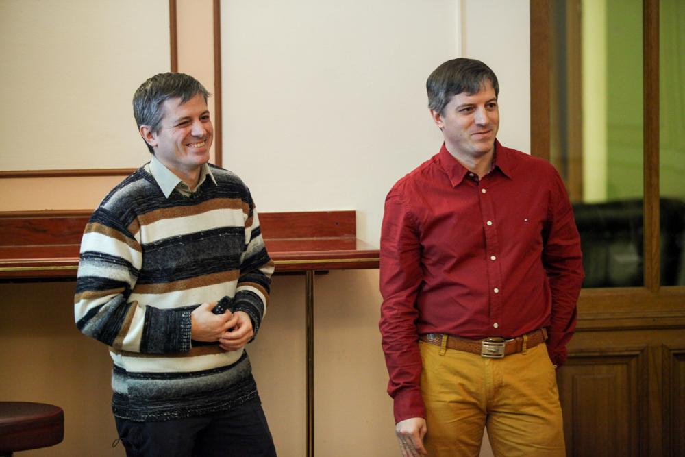 Олег и Андрей Глотовы на Science-ланче